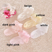 Wholesale Girl Layer Sock - Wholesale 2014 New Girls Princess Socks Summer Layers Lace Embroidery Mesh Socks 019