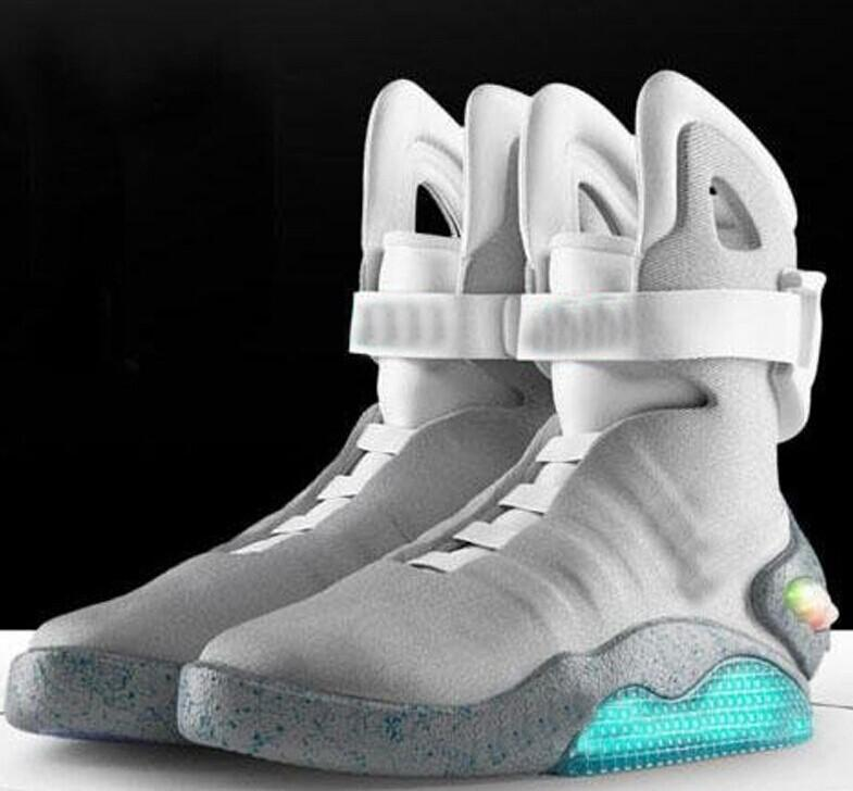 low priced 13728 80a1a Men Basketball Shoes Limited Edition Men Air Mag Marty McFly s Athletic Air  Mag LED Shoe Black Satisfied Original Box Men Shoe Flat Shoes On Sale Cheap  ...