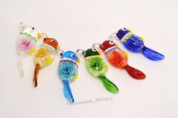 $enCountryForm.capitalKeyWord Canada - Lots Murano Glass Handwork Pendant Necklace flower In 3D Animal Bird Wholesale Retail FREE #pdt0162