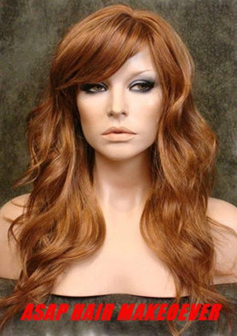 Long Loose Body Wavy Lace Front Wig Synthetic Wigs With