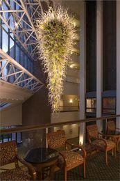 $enCountryForm.capitalKeyWord NZ - Hotel Large Chandelier Pendant Light LED Bulbs Modern Hand Blown Art Glass Chandelier for New House Decoration