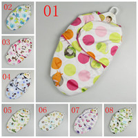 Wholesale Wholesale Infant Sleeping Bag - Swaddle Blanket Newborn Sleeping bags 2 Layers baby blanket sleepsacks wraps Baby Swaddling Sleep Bag Infant Wrap Fedex DHL