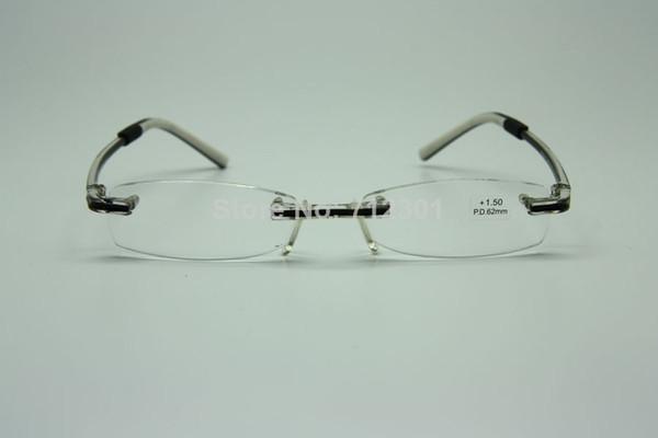 design de qualité 4024a f8944 Acheter Swissflex Style Design Optics Lunettes De Lecture Sans Monture,  TR90 Flexibles Rimless Lunettes De Presbyte, HD Objectif Lunettes De $70.09  Du ...
