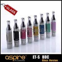 aspire ce5 et s bdc großhandel-Großhandel - Aspire ET-S BVC Glasversion 2ml Clearomizer Bottom Vertical Coil Aspire 1.8ohm BDC ETS Glaszerstäuber 100% Original