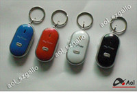 Wholesale Sound Control Lost Key - 10 Pieces Lot LED Key Finder Locator Find Lost Keys Chain Keychain Whistle Sound Control Avoid the loss of key