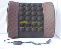 Wholesale office massages - 2 x Car Office Motor Lumbar Waist Massage Cushion Back Seat Rest Free Shipping