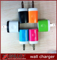 Wholesale 5v Mini Ups - 5V 1A Dual Color Mini USB US EU Plug AC Wall Charger for Samsung Galaxy S4 S5 Note 2 3 Ipone 6 100pcs up
