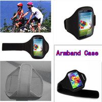 Wholesale Iphone Armband Drop - 4 X Running Sport Gym Workout Armband Cover Case Pouch Cell Phone Cases for Samsung Galaxy Iphone 4 5 Free shipping Drop shipping