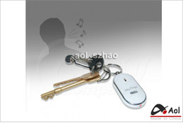 Wholesale Free Phone Sounds - Free Shipping 10 Pieces Lot LED Key Finder Locator Find Lost Keys Chain Keychain Whistle Sound Control
