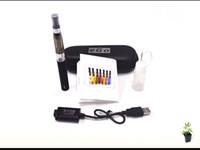 elektronik taşıma durumlarda toptan satış-Deri taşıma çantası ile Ego CE5 Elektronik Sigara kiti 1 Atomizer 1 Pil Çeşitli renkler kaliteli
