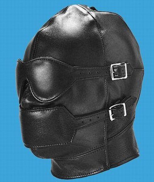 top popular PVC Gimp Mask Hood Blindfold Fetish Bondage Sex Headgear Leather Hoods 2021