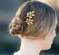 Wholesale Greek Accessories - Hot Sale 2014 Greek Styles Women Hair Accessories Metal Vintage Leaves Hair Clips Bride Hairpin For Party Feast Wedding Barrettes J0698
