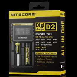 Nitecore Lcd Canada - NITECORE D2 New I2 LCD Digicharger Universal Intelligent Charger For Li-ion &Ni-MH battery Electronic Cigarette Christmas Gift Free Ship