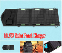 Wholesale Laptop Charger Bag - 10.5W USB 5V & DC9-18V Portable Solar Charger For Mobile Phone + Solar Panel + Foldable USB Battery Charger Wallet Bag