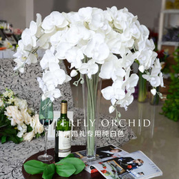 Decorative butterflies for weDDings online shopping - Fake Orchid Flowers Phalaenopsis Orchids Butterfly Fake Moth Orchids for Wedding Decorative Artificial Flowers