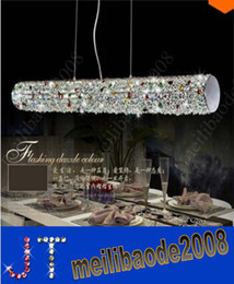 Wholesale dinning room crystal chandelier - Free shipping 2014 new crystal bar crystal chandelier Modern and Simple LED Light Pendant Living Dinning Room Restaurant Villa Hotel HSA0232