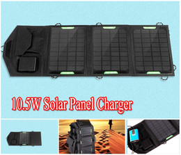 Wholesale Laptop Charger Bag - Hot sale 9V 5V 10.5W Portable Folding Solar Panel Charger Battery USB 5521 Dual Output Controller Solar Panel Bag for mobile phone laptop