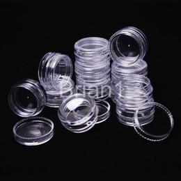 Wholesale Storage Bottles Jars Wholesale - Wholesale - - Free shipping - Promotion 100pcs 3g transparent small round bottle jars pot,clear plastic container for nail art storage