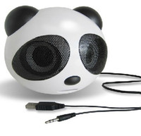 PANDA Mini Alto-falantes Portáteis USB 2.0 Canais Multimídia para Computador PC Laptop MP3 MP4 DVD Hi-Fi Apple Macbook Pro Cosmos Cabo Tie