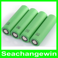 Wholesale TOP battery VTC3 VTC4 VTC5 li ion Lithium battery for all kinds of e cigs VS HG2 Battery DHL Free
