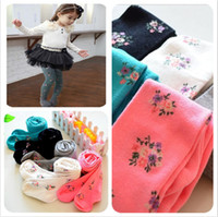 Wholesale Girls Matching Tight - 2014 New Fashion British Style Children Floral Cotton Pantyhose For Baby Girls all-match Princess Leggings Kids Long Tights S13