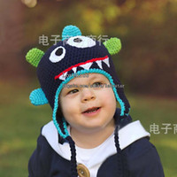 Wholesale Hand Knitted Kids Hats - Baby Cap Kid Skull Cap Infant Hats Kids Cap Fashion Hand Knitted Caps Boys Girls Wool Cap Baby Crochet Hats Children Caps Knitted Beanie Hat