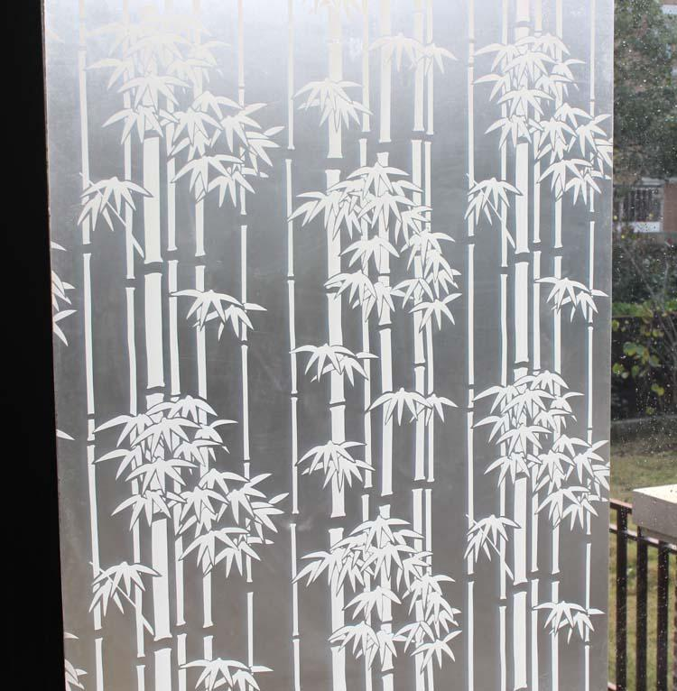 White bamboo scrub window glass film and translucidus transparent bathroom sliding door glass stickers window stickers wall sticker home decor wall sticker