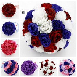 Caldo! 1 Pz 5 inch Rose Flower Kissing Ball Decorazione di fiori per matrimoni 8 - stile (179) supplier balls kisses da bolle di biglie fornitori