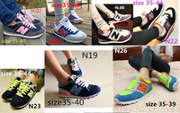 Wholesale Eva Letter - 2016 fast shipping women men's South Korea Joker shoes N letters breathable running shoes sneakers canvas Casual shoes shoe many colors mixe