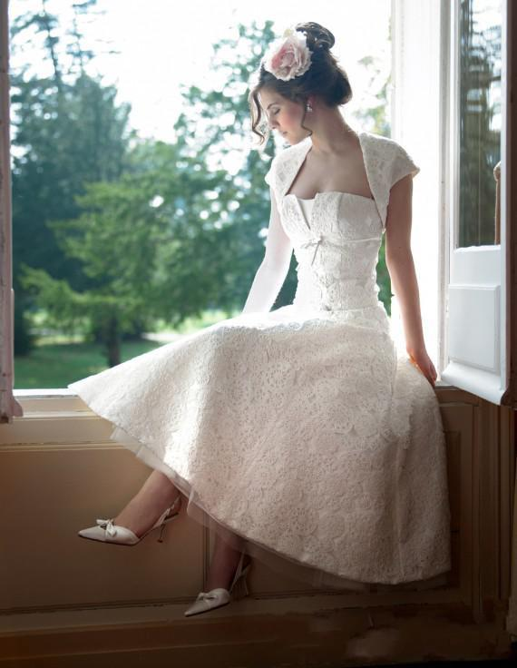 Gothic Strapless 2014 Cap Sleeve Dress Sexy Bridal Dresses Cheap Tulle Garden Formal Short Tea Length Vintage Wedding Gown Backless
