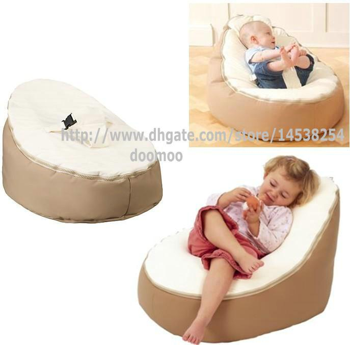 Discount Newborn Babies Kids Toddler Baby Bean Bags Seat Chair Sofa Bed FurnitureComfortable Child Beanbag Chairs Beige Cream Color From China