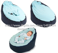 Wholesale Beanbag Beds - Newborn Babies Kids Toddler Baby Bean Bags Seat Chair Sofa Bed Furniture,comfortable child beanbag toddler chairs - NAVY BLUE