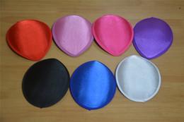 Color puro EVA Satén Lágrima Gota Sombrerería Sombrero Fascinator Headpieces Base DIY Craft Making Cap B045 desde fabricantes