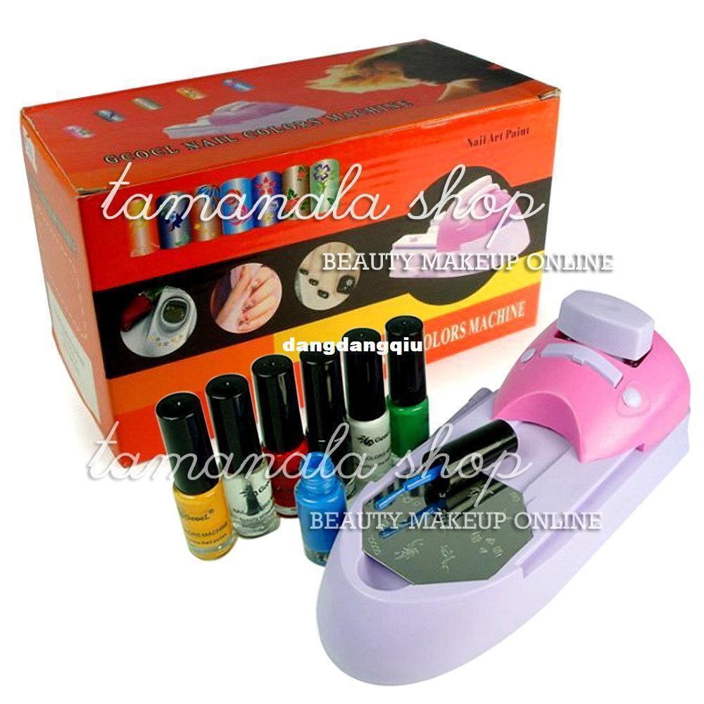 Wholesale-Nail Art Colors Printing Machine Polish DIY/Stamper Kit ...