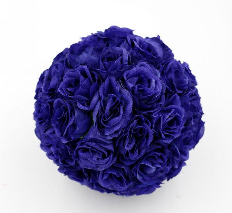 CALDO ! 10 pezzi Royal Blue 5inch Rose Flower Kissing Ball decorazione fiori matrimonio
