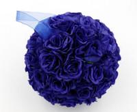 kraliyet dekorasyonları toptan satış-Sıcak ! 1 Adet 5 inç Kraliyet Mavi Gül Çiçek Düğün Çiçekleri Dekorasyon (180)