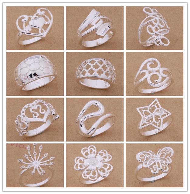 النظام المختلط / 925 خواتم الفضة مطلي الأزياء والمجوهرات حزب نمط أعلى جودة الشحن هدية عيد الميلاد
