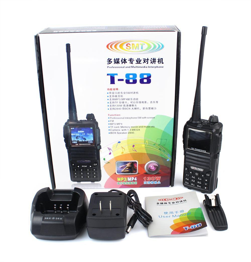 A1040A SMT T-88 Walkie Talkie UHF 5W 200 CH VOX Camera Video recorder BOX спикер 2840 Мультимедиа домофон Радио Alishow