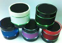 Wholesale Wholesale Mini Beatbox Speakers - LED Light S09 Wireless Mini Speaker Bluetooth HiFi beatbox TF Card with MIC For phones 5 htc samsung S4 I9500 High quality