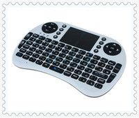 Wholesale Russian Keyboard For Tablet - Russian language wireless keyboard with touchpanel, bluetooth air mouse for android tv box, tablet pc, computer and laptop