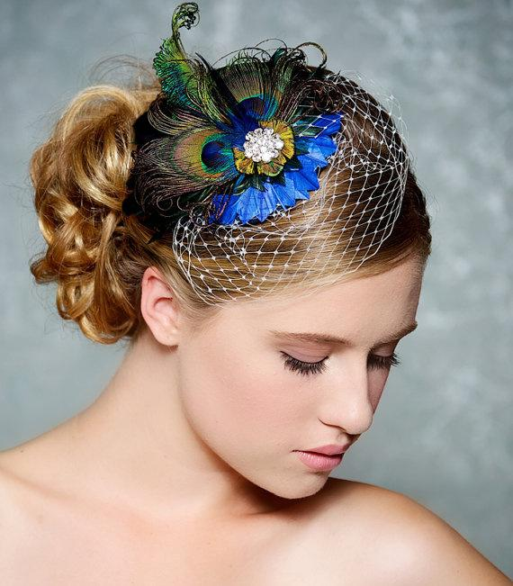 how to make feather hair style sell superb peacock bridal hair accessory cobalt 2963