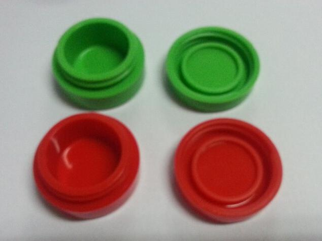 Heißer Verkauf Runde Form Silikon Gläser Tupfen wachs verdampfer ölbehälter AGO G5 Trockenen Kräuter Öl Slick Container Box für Wachs E Zigarette Zerstäuber