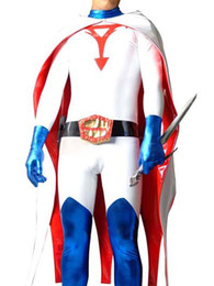 Costume De Super-héros Pvc Pas Cher-Science Ninja Team Gatchaman Ken Superhero Costume Halloween Cosplay Party Zentai Suit
