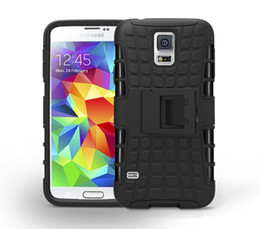 Wholesale Belt Clip S5 - New Armor Heavy Duty Hybrid Stand cell phone Cover with Belt Clip for Samsung Galaxy S5 I9600 case G900 case