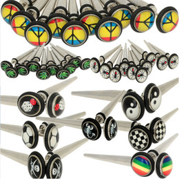 Wholesale Ear Expander Stretching Taper - Mix Style Stainless Steel Ear Stretching Tapers Expander Plugs Tunnel Body Piercing Jewelry Kit Gauges Bulk Earring Promotion [BB178*2]
