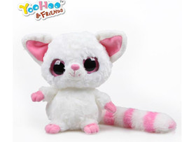 "Wholesale Ty Plush Free Shipping - Wholesale- Yoohoo&Friends TY Big Eyes Cute Fabric Doll plush toy (fennec fox) - 5"" Pammee,free shipping,doll plush toys,Gift for Chilren"