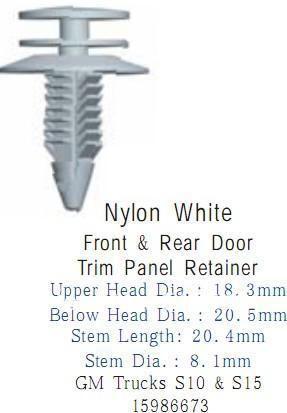 100 Pcs For GM Truck S10 S15 Front Rear Door Trim Panel Clips Retainer 15986673