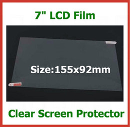 Wholesale tablet pc protector - 200pcs Universal 7 inch LCD Screen Protector for Tablet PC PDA GPS MP4 Size 155x92mm Protective film No Retail Package