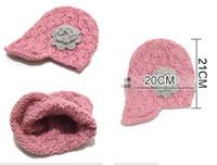 Wholesale Big Muff - new ! 6pcs lot teenagers big Girls handmade crochet hat beanies Children Beanies Children hats