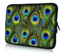 "Wholesale Neoprene Netbook Bag Sleeve - Wholesale-Peacock 11.6"" 12"" Laptop Netbook Notebook Sleeve Bag Tablet Case Cover Pouch407"